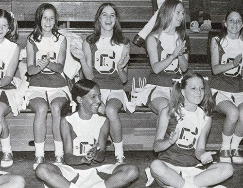 Cheerleaders 1971 - GHS Hurricane Courtesy of Matheson History Museum